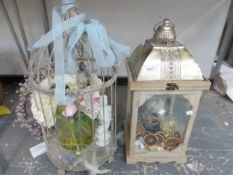 TWO VINTAGE STYLE DECORATIVE LANTERNS.