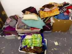 A COLLECTION OF SCARVES, PASHMINAS ETC.