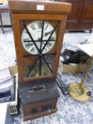 A NATIONAL TIME RECORDER CLOCKING IN CLOCK.