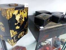 A COLLECTION OF ORIENTAL AND OTHER LACQUER BOXES.