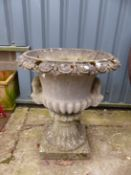 A LARGE CLASSICAL STYLE GARDEN URN.