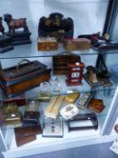 A PERPETUAL CALENDAR, DESK STANDS, LETTER PRESSES, BOOKENDS, TRINKET BOXES, ETC.