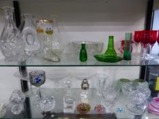 A QUANTITY OF CUT AND OTHER GLASSWARES.