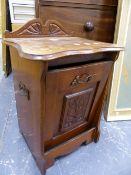 A VICTORIAN MAHOGANY COAL BOX.