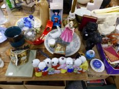 DOULTON 'SUNDAY MORNING' FIGURE, FOUR CLASSICAL STYLE BUSTS AND LARGE QTY OF ORNAMENTAL CHINAWARES.