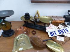VINTAGE SCALES, COPPER AND BRASS WARES, ETC.