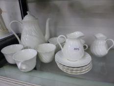 A WEDGWOOD PART TEA SET.