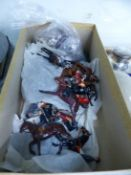 A BRITAINS DIE CAST HUNT GROUP COMPLETE WITH HOUNDS.