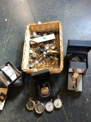 A SELECTION OF MODERN AND VINTAGE WRIST WATCHES AND POCKET WATCHES TO INCLUDE INGERSOLL, SEIKO,
