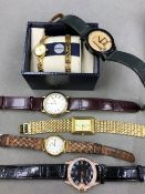 SIX QUARTZ DRESS WATCHES TO INCLUDE PULSAR, SEKONDA WITH MATHCING DRESS BRACELET BOXES, AVIA