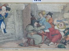 THREE ANTIQUE PRINTS. JAMES GILLRAY, CITIZENS VISITING THE BASTILLE, WILLIAM HEATH, HIS HONOR THE