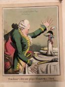 BRITAIN IN THE ASCENDANT, THREE NAPOLEONIC ANTIQUE SATIRICAL PRINTS BY FORES AND OTHERS, THE KING'
