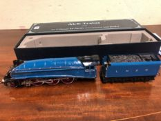 A BOXED ACE TRAINS 0 GAUGE SIR CHARLES NEWTON LNER ELECTRIC LOCOMOTIVE AND TENDER