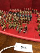 A COLLECTION OF BRITTAINS FIRST WORLD WAR LEAD SOLDIERS, SAILORS AND BANDSMEN