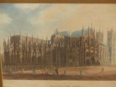 A GROUP OF 18th/19th.C. TOPOGRAPHICAL PRINTS, INCLUDING TWO VIEWS OF WESTMINSTER ABBEY, TWO SCOTTISH