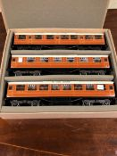 A BOXED SET OF THREE ACE TRAINS 0 GAUGE FLYING SCOTSMAN CORRIDOR COACHES