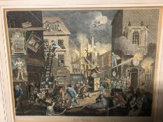 AFTER WILLIAM HOGARTH, FOUR ANTIQUE CARTOONS: THE ENRAGED MUSICIAN, THE TIMES, THE BENCH AND THE