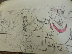 ROLF HARRIS (b. 1930). ARR. A LARGE SKETCH /CARICATURE, SIGNED AND INSCRIBED 1978. COLOUR MARKERS OF