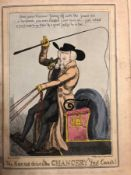 FIVE ANTIQUE SATIRICAL PRINTS TO DO WITH TAX AND THE CHANCERY BY WILLIAM HEATH, ISAAC ROBERT