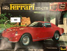 A BOXED REVELL 1965 FERRARI 275 GTB 1/12 SCALE KIT FORM MODEL. W 41cms.