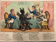NAPOLEON IN THE ASCENDANT, FOUR ANTIQUE SATIRICAL PRINTS BY GILLRAY AND OTHERS, DOCTOR SANGRADO