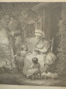 TEN 18th/19th. C. PRINTS OF GENRE SCENES BY VARIOUS HANDS; SIZES VARY, HOGARTH FRAMES.