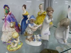 FOUR ROYAL DOULTON FIGURINES, THE LAST WALTZ, MELANIE, A VICTORIAN LADY AND CLEMENCY, TOGETHER