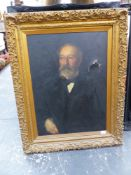 LATE 19th.C.ENGLISH SCHOOL. PORTRAIT OF A GENTLEMAN. OIL ON CANVAS. 77 x 57cms.