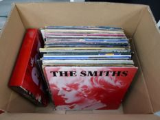 A QUANTITY OF VINTAGE RECORD ALBUMS TO INCLUDE LED ZEPPELIN, STATUS QUO, THE CURE, GILLAN, BOZ