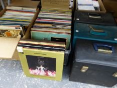 A LARGE COLLECTION OF RECORD ALBUMS, EASY LISTENING, MUSICALS AND CLASSICAL.