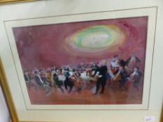 FRANK ARCHER (1912-1985). ARR. 'THE ORCHESTRA'. WATERCOLOUR, SIGNED. 31.5 x 44.5cms.