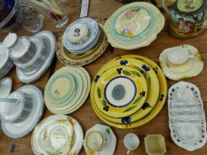 A ROYAL DOULTON ETUDE PATTERN PART TEA AND DINNER SERVICE, A NEWPORT POTTERY CROCUS PATTERN GROUP OF