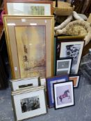 A DIVERSE COLLECTION OF FRAMED PHOTOGRAPHS AND PRINTS, MAINLY OF ORIENTAL SUBJECTS AND EASTERN