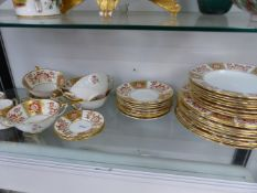 """A ROYAL CROWN DERBY """"RED DERBY PANEL"""" PART DINNER SERVICE."""