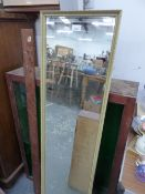TWO DISPLAY CASES AND A MIRROR.