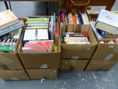 AN EXTENSIVE COLLECTION OF BOOKS VARIOUS TITLES TO INCLUDE PENGUIN CLASSICS, JAMES HERRIOT, IAN