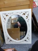 SEVEN CONTEMPORARY MIRRORS OF VARYING DESIGN AND SIZE (7).