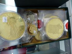 A QUANTITY OF PROOF MEDALLIONS.