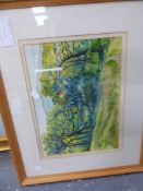 P.F. MILLARD (1902-1977). ARR. TREES IN KENT AUTUMN. SIGNED WATERCOLOUR, 28 x 35cms, TOGETHER WITH