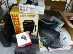 NAKAMICHI STEREO SYSTEM, A CARLSBRO MICROPHONE AND AMP, SAT NAV, ETC.