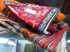 A SMALL COLLECTION OF EASTERN AND ORIENTAL TEXTILES.