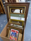 VARIOUS FRAMES AND DECORATIVE PRINTS
