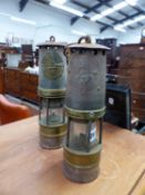 TWO MINERS LAMPS.