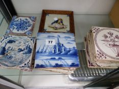 A QUANTITY OF 18TH AND 19TH CENTURY TILES.