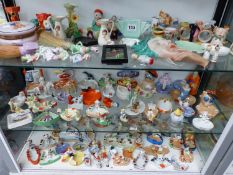 A LARGE QUANTITY OF ART DECO STYLE ORNAMENTS, INCLUDING JAPANESE LUSTRE EXAMPLES, CROWN DUCAL,