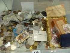 A LARGE COLLECTION OF 20th.C. GB COINS.