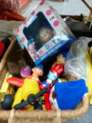 A COLLECTION OF NODDY AND OTHER RELATED TOYS AND MEMORABILIA, TOGETHER WITH A 50'S STYLE BEACH BAG.