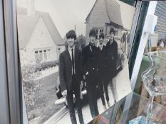 A RARE EARLY LARGE PHOTOGRAPH OF THE BEATLES BY ARTHUR TITHERINGTON, 1963.