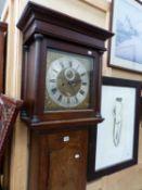 GEORGE BURGIS, LONDON, AN OAK LONG CASED CLOCK