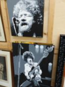 BRENDAN HIGGINS ( 20TH/21ST CENTURY) ARR. TWO PORTRAITS OF 1970'S ROCK ICONS SIGNED OIL ON CANVAS